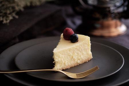 Cheesecake, gebak, taart.