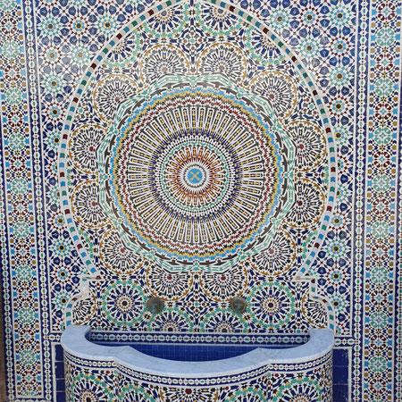 Mozaiek, Fez, Fes, Marokko, Vakwerk, Pottery.