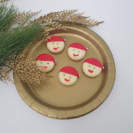 Traktatie, babybel, kerstman, kerstdiner op school