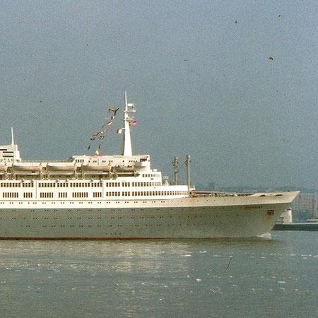 Geschiedenis van de SS Rotterdam.