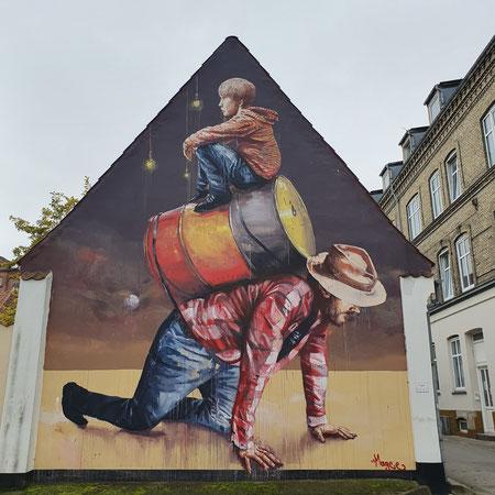 Streetart, Wat te doen in Aalborg, weekendje aalborg, Aalborg met kinderen.