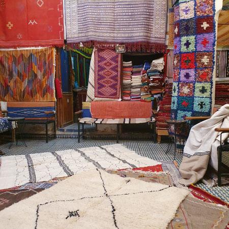 Marokko, Fez, Tapijten, Berbers.