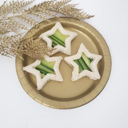 Kerstdiner, sandwich, hapjes voor op school