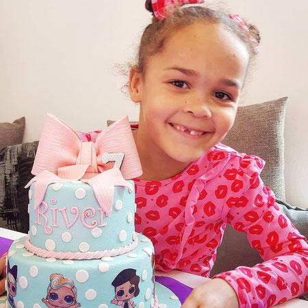 Jarig, LOL taart, 7 jaar, verjaardag