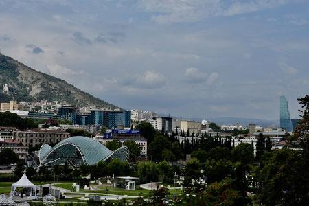 Zicht op Tbilisi