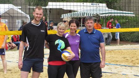 v.l.: Nico Rademacher, Carmen Weigel-Seiwert; Annette Koch, Thomas Schönhofer