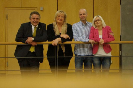 Klaus-Peter Willsch, Stefanie Vogelsang, Mario Martin, Barbara Martin