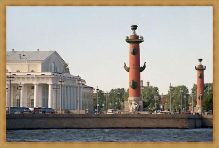 Биржа. Ростральные колонны.
