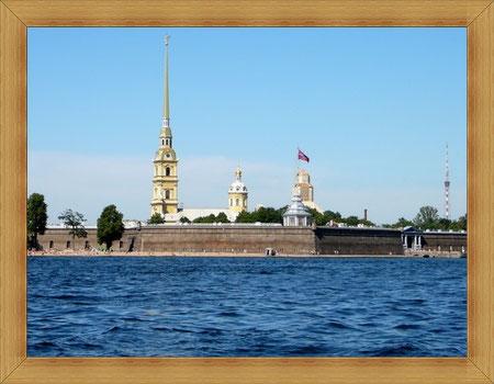 Берег Невы, Петропавловская крепость.