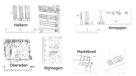 Abb. 1: Diverse Kasernenbauten der augusteischen Römerlager. (c) LWL