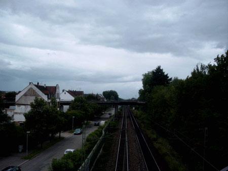 Rheintalbahn in Richtung Norden