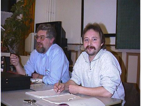 Walter und Chris (Amatuerfunk Sitzung)