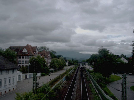 Rheintalbahn in Richtung Süden (Juni 2007)