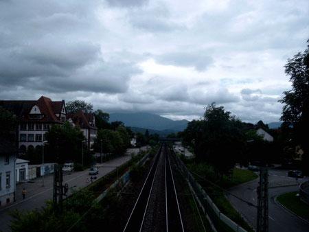 Rheintalbahn in Richtung Süden