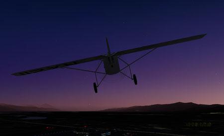 夜間飛行 X−Planeのスクリーンショットです。