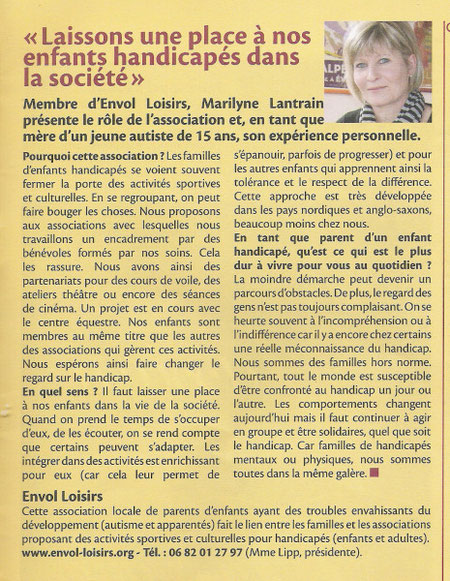 Article paru dan sle journal de Bry sur Marne