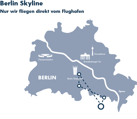 Skyline Hubschrauberflug Berlin