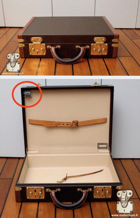 Valise Louis Vuitton agent secret