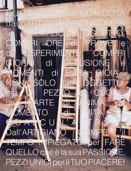 Scale a pioli in legno artigianali per arredamento di interni - Custom ladders for interior decor made in Italy