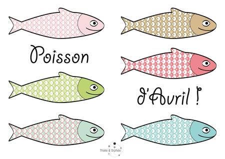 imprimer de poissons d'avril