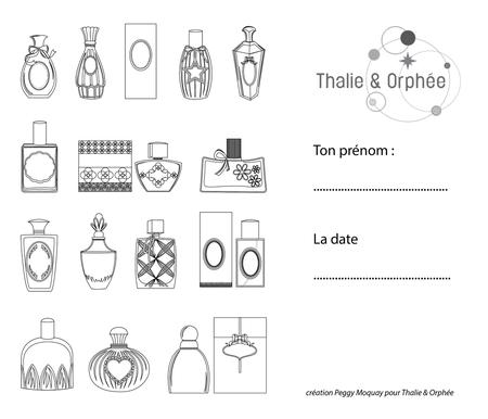 Colorier des bouteilles de parfum