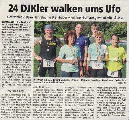 Bericht Ruhr-Nachrichten vom 9.Oktober 2009