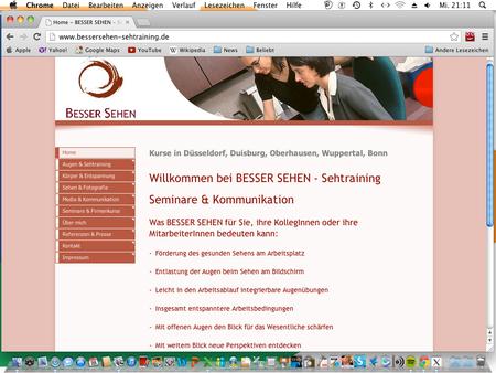 Für alle, denen mein Sehtraining noch nicht genug ist: Georg Teiner vermittelt noch weitergehende Sehfertigkeiten.