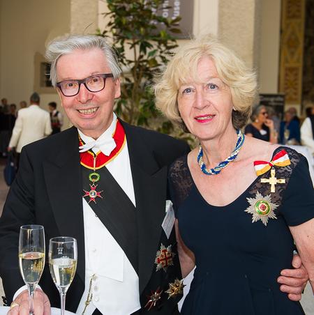 Edwin Gräupl und Rita Gräupl bei der Investitur in Salzburg