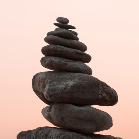 Stapel stenen, de balans is zoek.