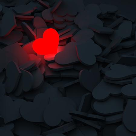 Liefde, begrip, gemis, hartje.