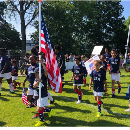 Vlaggenparade, team USA, WK adoptie, WK adoptiekids