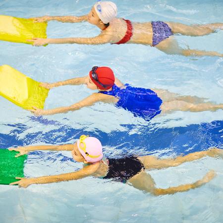 Zwemles, sporten voor kinderen.