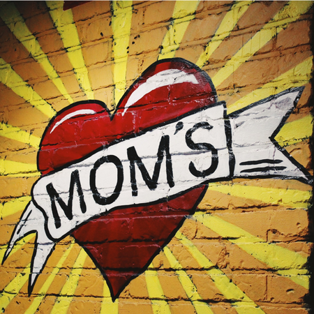 Graffiti, Moederdag, Mom's, hart