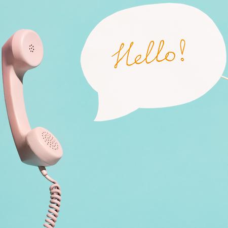 Telefoon, hello, voorstellen