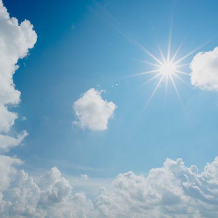 Zon, wolken, lucht, insmeren, zonnebrandcreme