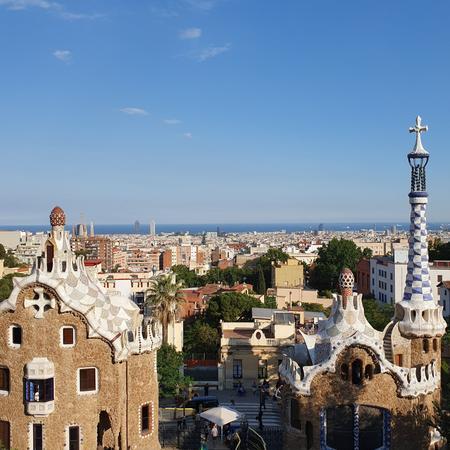 Gaudi, Park Güell, Gaudi, Mozaik, Barcelona