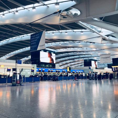 Luchthaven, vliegveld, rootsreis, naar Amerika