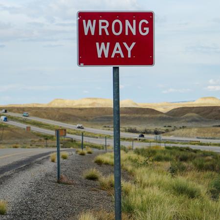Wrong way, eigen verantwoordelijkheid.