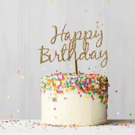 Verjaardagstaart, happy birthday