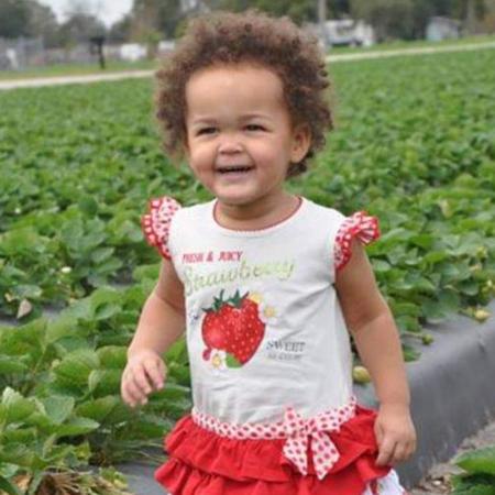 Aardbeienveld, peuter, monnalisa jurk, Florida, Plant City