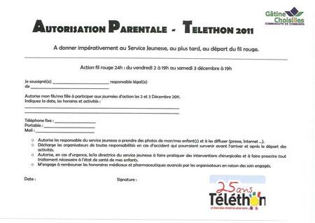 Autorisation parentale à imprimer