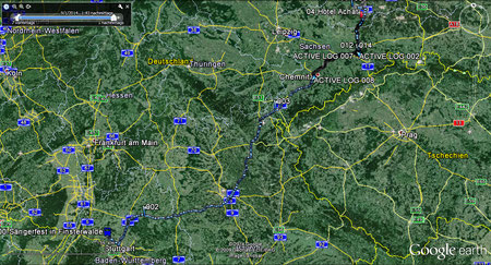 Fahrt mit dem MPC2000-Männerchor zum Hotel in Schwarzheide
