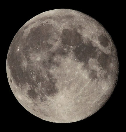 Der Mond, aufgenommen am 09.09.2014