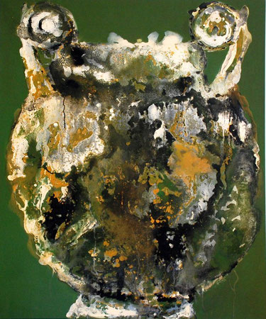 vase etrusque jaune/vert 120x100