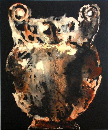 vase etrusque ocre-noir 120x100