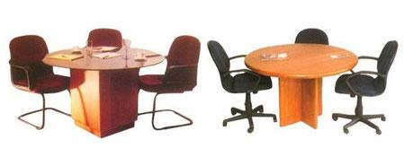 Mesas con tope redondo