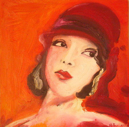 Lupe Velez 2009 Oil on canvas 30.5x30.5 available