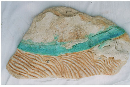 Agua viva 2007 Iron oil on sandstone 48x35cm. - available