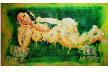 Gong Li 2007 Oil,paper on canvas 98x162cm available