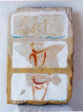 Adonde 2003 Silicate,whitewash on sandstone 49x33cm